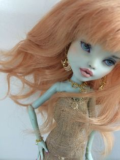 Ooak Monster High Frankie Doll Repaint Custom Outfit by Luiba Small