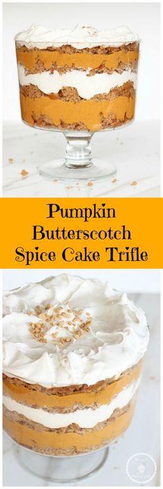 pumpkin spice cake butterscotch trifle pin