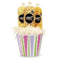 Pink Popcorn Gift Pail - Nikki's Popcorn Company Dallas, TX