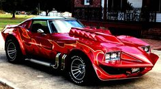"George Barris - 1973 Chevrolet Corvette Stingray customized for the 1978 movie ""Corvette Summer Chevrolet Corvette Stingray, Custom Muscle Cars, Chevy Muscle Cars, Custom Cars, 32 Ford, Hot Cars, Gaz Monkey, Supercars, Alexis Sanchez"