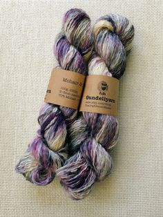 Mohair / silk hand dyed lace weight yarn - fingering weight - purple and black with lots of white - skein, Knit Or Crochet, Lace Knitting, Knitting Patterns, Best Ballpoint Pen, How To Make Light, Sock Yarn, Hand Dyed Yarn, Purple And Black, Silk
