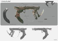 weapon concept 01, Nenad Gojkovic on ArtStation at http://www.artstation.com/artwork/steampunk-pistol-concept
