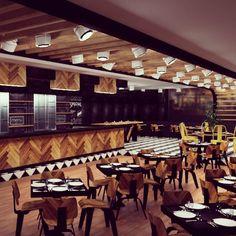 Italian restaurant / pizza bar/ ceiling