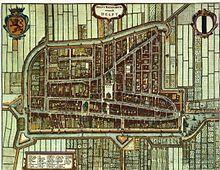 Plano de Delft en 1652 (por Joan Blaeu).