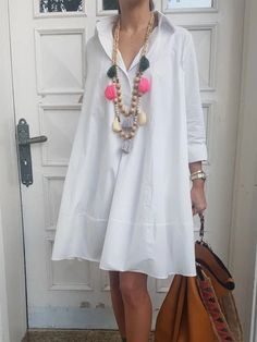 Above Knee Button Three-Quarter Sleeve Casual Plain Dress Types Of Sleeves, Dresses With Sleeves, Sleeve Dresses, Casual Dresses, Fashion Dresses, Floryday Dresses, Plain Dress, Long Summer Dresses, Looks Chic