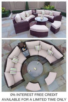 Garden Furniture 0 Interest arc 10 - half moon rattan sofa set   moda arc range   pinterest