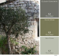 Moodboard olive colors Pure & Original