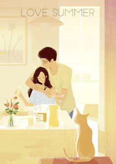 微爱情系列 · 动图(三) - 原创作品 - 站酷(ZCOOL) Cute Couple Cartoon, Cute Couple Art, Autumn Illustration, Couple Illustration, Cute Wallpaper Backgrounds, Cute Cartoon Wallpapers, Animated Love Images, Romantic Gif, Cute Love Gif