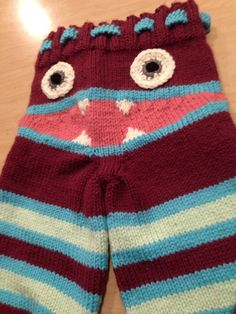 Adorable Knit Monster Pants. by SunBabyBoutique on Etsy