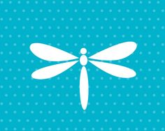 Dragonfly Art Print / Insect Set / Nursery Wall by jennasuedesign