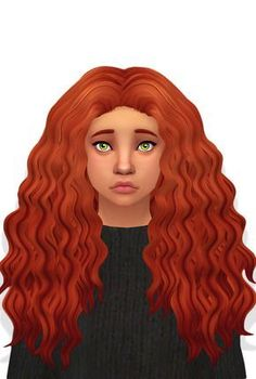 The Sims 4 CC || Curly Hair clayified• Teen-Elder Females • All 18 EA Colors