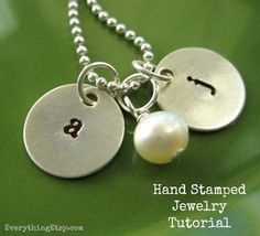 Hand stamped jewelry - with links on where to buy supplies at the best prices.