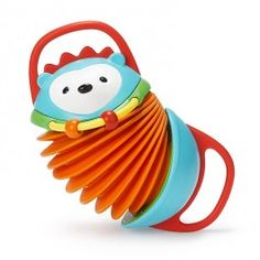 Explore & More Hedgehog Accordion Baby Toy - Educational Toys Planet. Great gift for 6 months old child. Skip Hop Explore & More Hedgehog Accordion is an adorable first accordion, toy hedgehog, baby teether, and sensory activity toy in one terrific plaything!  Develops Skills - manipulative skills, sensory exploration, pretend play, cognitive development. #toys #learning #educational #gifts #child https://www.educationaltoysplanet.com/twist-teethe.html