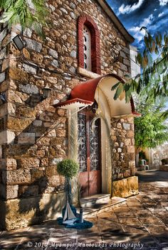 Greece Travel Inspiration - Church in Halkis, Evia, Greece Places Around The World, Oh The Places You'll Go, Around The Worlds, Greece Vacation, Greece Travel, Athens Airport, Religious Architecture, Countries To Visit, Greece Islands