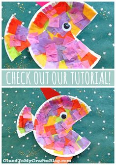 Paper Plate  Tissue Paper Tropical Fish – Kid Craft