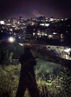 run mountains before sunrise, Inwang-san, Seoul.