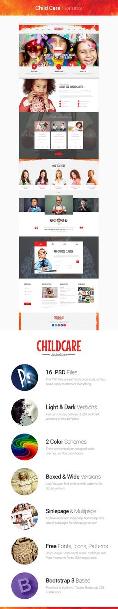 Child Care is modern, clean and professionally crafted #WordPress Theme which can be used for #kindergartens, child care or nursery, pre-school, kids parties and any other #website related with kids.