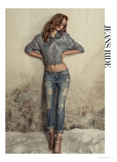 Babe in Denim– Lindsey Wixsonshows off her seductive side in the spring 2014 campaign from Brazilian denim label,Ellus.