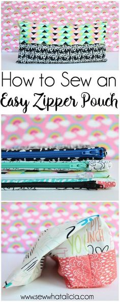 How to Sew an Easy Zipper Pouch: Zippers aren't scary!! This is the first part in a series on adding zippers to your sewing. Click through to learn how to sew an easy zipper pouch  www.sewwhatalicia.com #sewing #zipperpouch #sewingproject