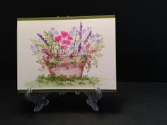 Card using Flower (4052) and Foliage (4051) Sets. Card by craftytreen.
