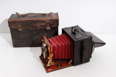 Sanderson Hand Camera,w/ case,plates,viewfinder,shutter release,original manuals