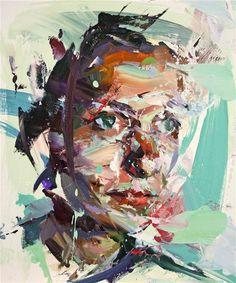 anitaleocadia: Paul Wright - Deconstructed head, oil on board Abstract Portrait, Portrait Art, Abstract Art, Painting Portraits, Paintings, Deconstructed Art, Sketch Painting, Knife Painting, Large Painting