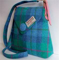 Harris Tweed Ali Bag by Lady well Designs Next Bags, Viking Knit, Textiles, Harris Tweed, Fabric Bags, Tartan Plaid, Blue Bags, Hand Weaving, Purses