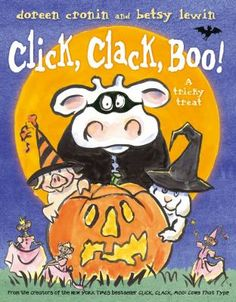 Click, Clack, Boo! - the perfect Halloween read aloud for kids who loved Click, Clack, Moo: Cows that type. by Doreen Cronin and Betsy Lewin.