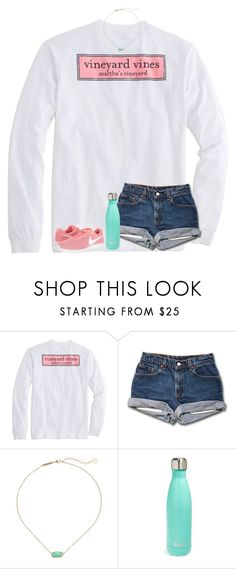 """""""sort of a copy of one of my older sets;)"""" by ellienoonan ❤ liked on Polyvore featuring Vineyard Vines, Kendra Scott, S'well and NIKE"""