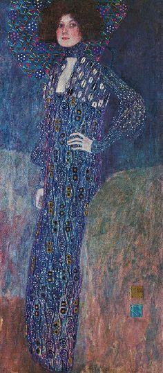 Gustav Klimt >> Portrait of Emilie Floge (1902)