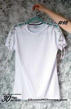 Customisation t-shirt - épaules lacées