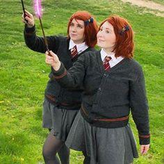 Fred and George Weasley (here Freda and Georgina) | 31 Alternative Harry Potter Halloween Costume Ideas