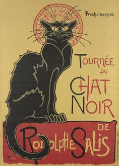 Poster for the tour of Le Chat Noir, 1896, Théophile Alexandre Steinlen, Van Gogh Museum, Amsterdam