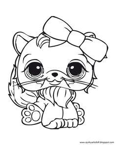 Coloriage De Petshop Chat A Imprimer.44 Meilleures Images Du Tableau Coloriage My Little Petshop