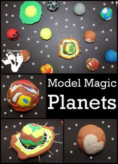 Model Magic Planets - a fun hands on craft making planets - 3Dinosaurs.com