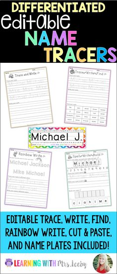 Editable Name Tracers and Activities