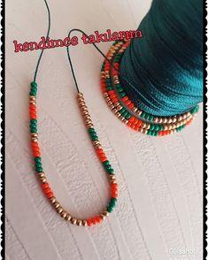 A new color new model 🤩🤩 Let's see how it will be 💚💚💚 # Beaded Earrings, Tassel Necklace, Beaded Bracelets, Bead Jewellery, Jewelery, Beaded Jewelry Patterns, Diy Schmuck, Bead Crochet, Knitting Yarn