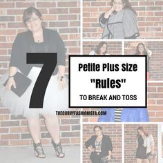 Are you a plus size petite woman, bound by all of these fashion rules? We give you a few to break on the blog!