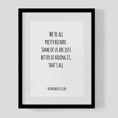The Breakfast Club classic film quote print  All by HipsterPrint