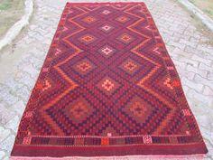 "Anatolian Turkish Classic Kilim Rug Carpet 65"" x 118"" (165cm x300cm)"