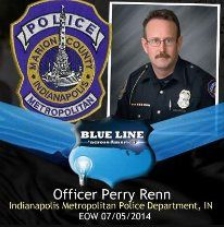 National Blue Alert System - Officer Perry Renn, Indianapolis Metropolitan Police Department, IN. E.O.W. 07/05/2014