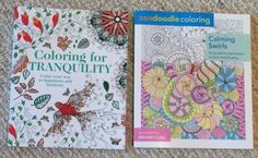 "Lot Of 2 Brand New High Quality Adult Coloring Books;   1 ""Coloring for Tranquility; Color your way to happiness and harmony"" themed (intricate patterns with geometry, florals and paisleys, owls, butterflies, etc.), and  1 ""Calming Swirls"" themed (with intricate geometric and organic patterns). Both books are in brand new condition, with no marks or tears, and are a bit heavier than the average similar product; paper has a nice weight and tooth. American Made!"