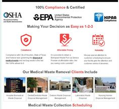 Houston medical waste disposal for companies, clinics, and hospitals. Let us excel your operations, and request a FREE quote online now or call 713-766-0014 now.