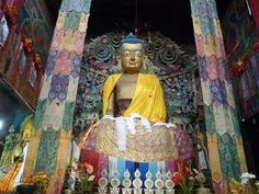 Ghoom Monastery is the popular name of the Yiga Choeling #Monastery located at Ghoom at an elevation of 8,000 feet, 8 km from #Darjeeling in the state of West Bengal. The monastery belongs to the Gelukpa or the Yellow Hat sect and is #famous for its 15 feet high special #statue of the Maitreya #Buddha. #travelawesome #lordbuddha #exploremore #perfectdestination