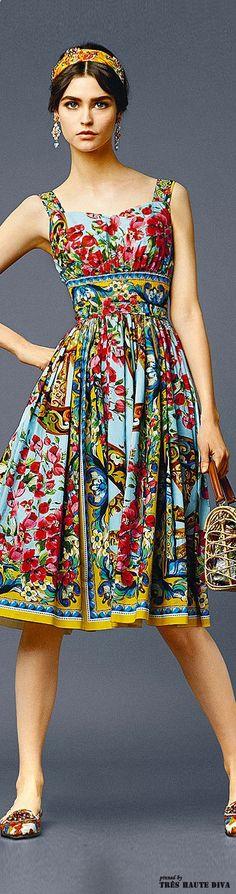 gypsy boho folk floral fashion summer vintage style to die for Dolce  Gabbana - Summer 2014