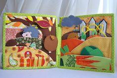 seasons, quiet book,  toddler quiet book, felt book by WondefulStudio on Etsy