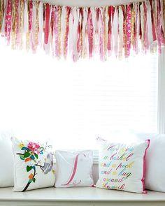 Fabric strip curtains on pinterest rag curtains ribbon curtain and