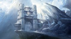 Fantasy Art Engine — Snowy Fortress by Jae Cheol Park High Fantasy, Fantasy City, Fantasy Castle, Fantasy Places, Fantasy Kunst, Fantasy Rpg, Medieval Fantasy, Fantasy World, Fantasy Artwork