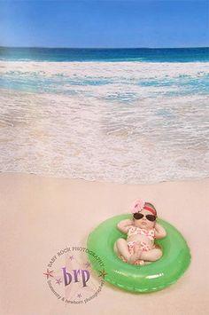 7983 Beach Waves Backdrop - Backdrop Outlet - 1