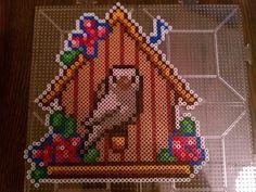 Birdhouse perler bead sprite by blackarach on deviantart